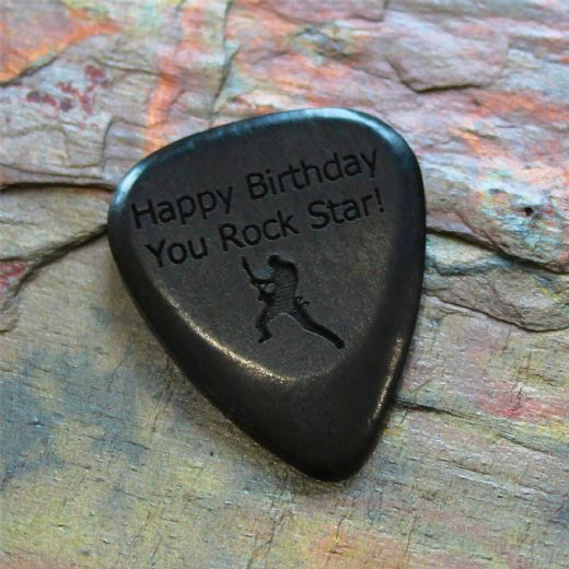 Personalised African Ebony Guitar Pick